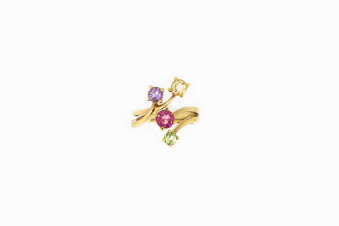 Bypass-Ring-With-Peridot- Garnet-Amethyst- Topaz-boston-ma