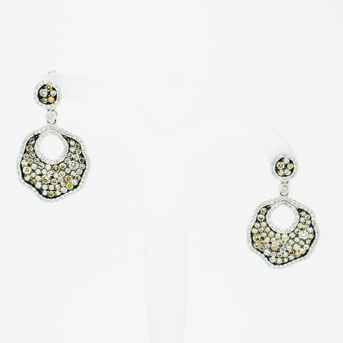 Diamonds and myriad stones drop earrings from GoldQuestJewelers jewelry store near Boston MA
