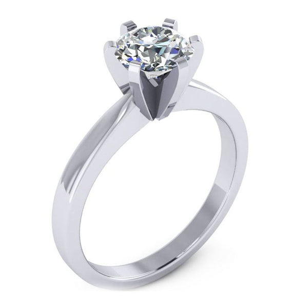 6 prong die struck fit solitaire engagement ring from GQJ Boston