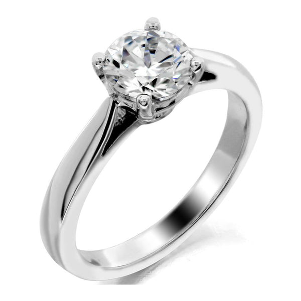4 prong cathedral style solitaire engagement ring from GQJ Boston