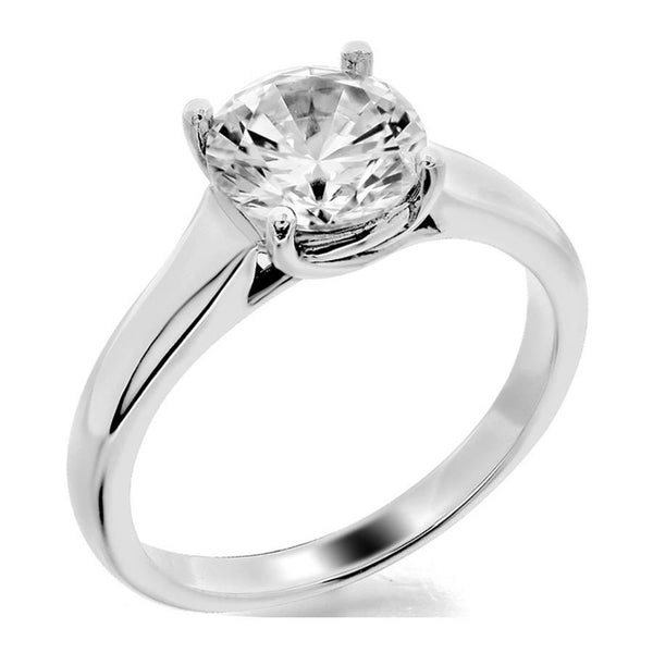 Trellis with 4 prong head solitaire engagement ring from GQJ Boston