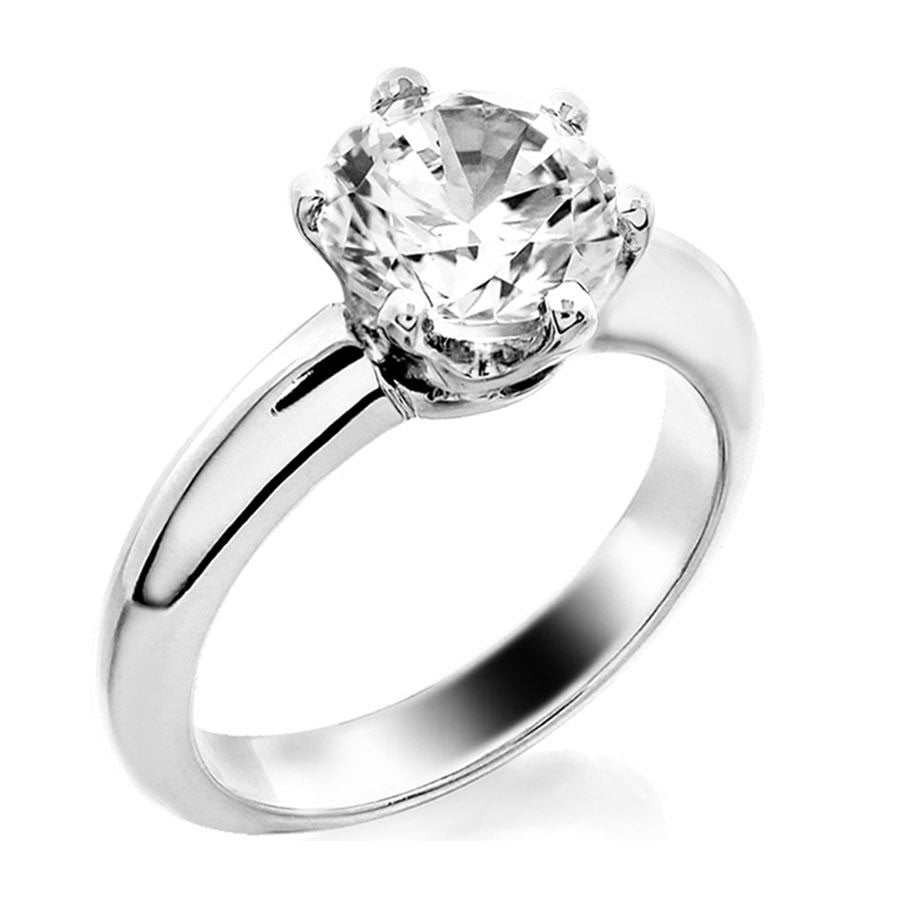 6 prong basket fit solitaire engagement ring from GQJ Boston