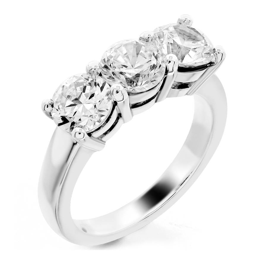 upon once white prong products a engagement shared gold in band rings round diamond wedding