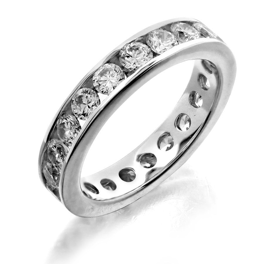 GoldQuest Jewelers in Boston channel set eternity wedding band