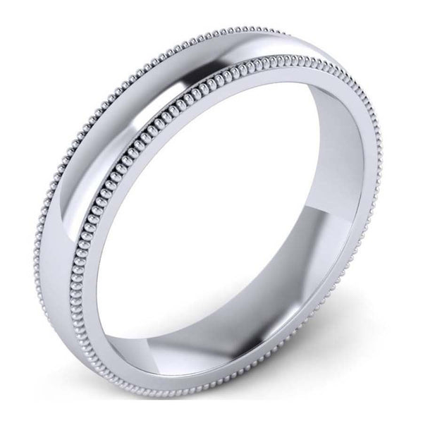 GoldQuest Jewelers in Boston classic platinum 3 mm wedding band with milgrain
