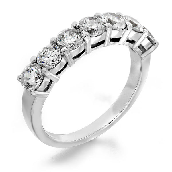 GoldQuest Jewelers in Boston shared prong 7 Diamond stone wedding band
