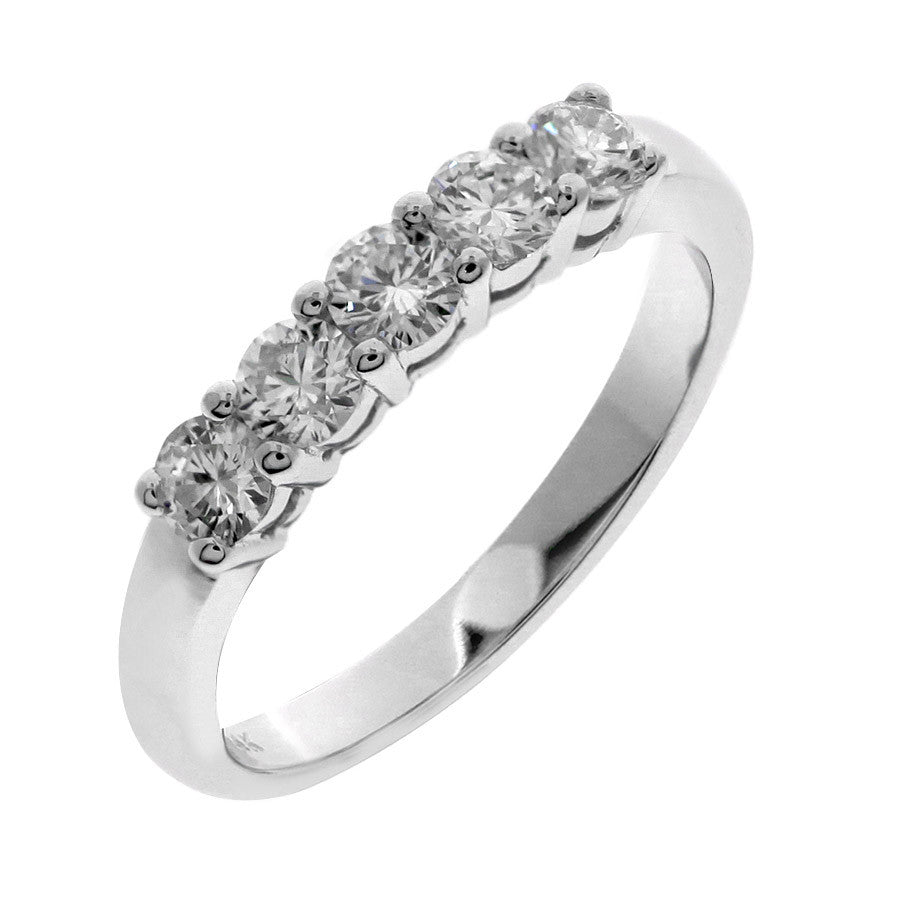 bands product floating womens main ct women ring diamond s platinum in stone five band