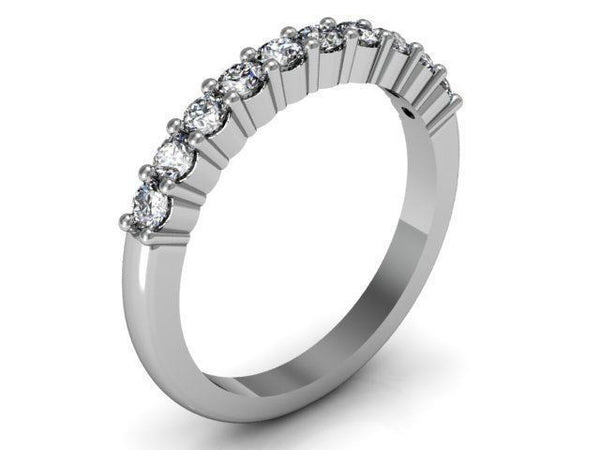 GoldQuest Jewelers in Boston Diamond shared prong set wedding band