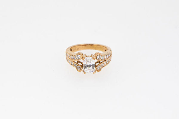 Split Shank Vintage Look Ring