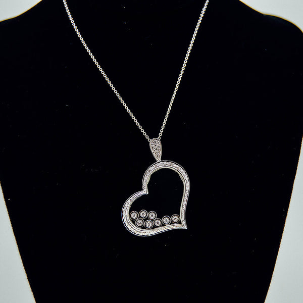 Diamond heart necklace from GoldQuestJewelers jewelry store near Boston MA