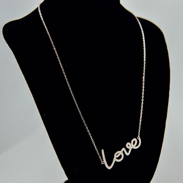 Diamond Love Necklace from jewelry store near Boston MA