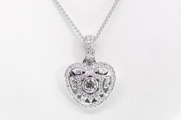 Vintage Heart Shaped Diamond Pendant