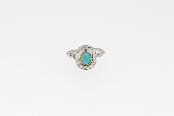 Vintage Ring With Turquoise Center