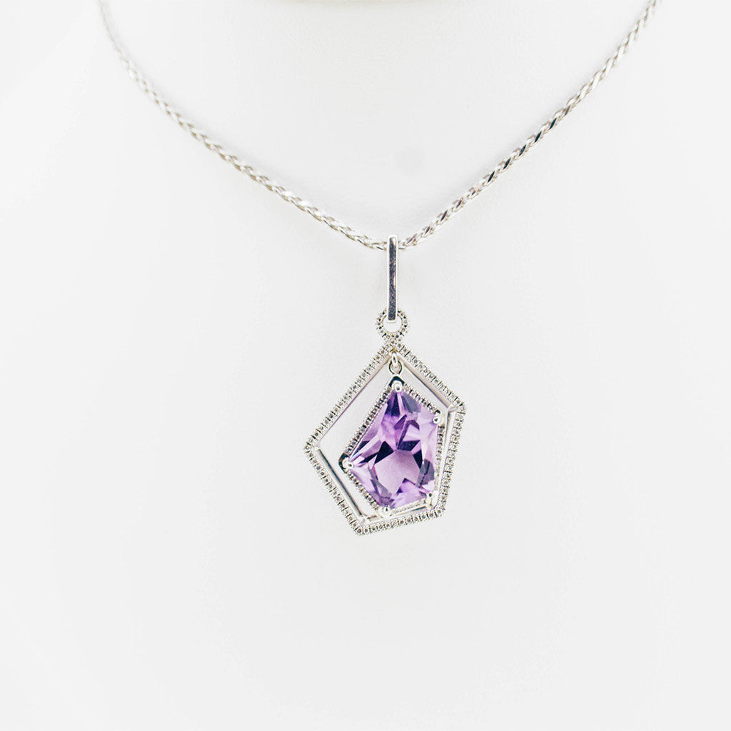 village purple the diamond and rose malaya pendant garnet goldsmith gold