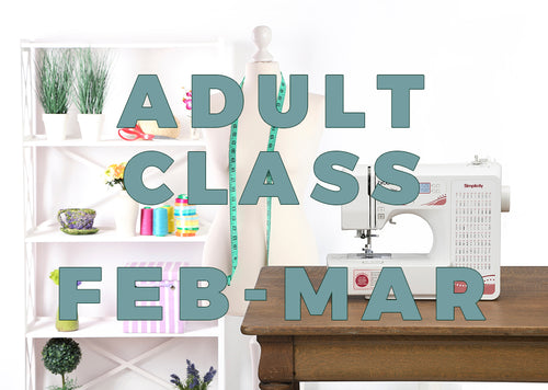 Adult Class - Mondays 2020 - February/March