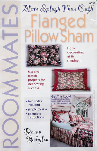 Flanged Pillow Sham - More Splash Than Cash