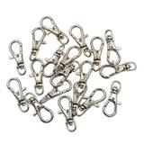 Lobster Claw Swivel Clasps Silver Plated Key Ring Metal Finding Jewelry Making 20 Pcs