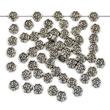 Tibetan Flower Silver Metal Finding Connector Spacer Charm Beads 50 Pcs