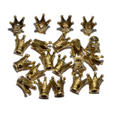 Solid Metal Finding King Crown Big Hole Connector Spacer Charm Beads 10 Pcs