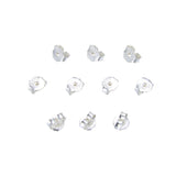AD Beads 925 Sterling Silver Ball Post Studs with Open Ring