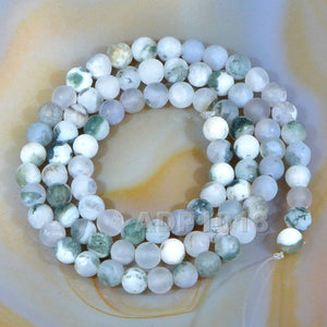 "Matte Natural Ocean Jasper Gemstone Round Loose Beads on a 15.5"" Strand"