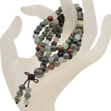 Natural Gemstones Buddhist 108 Prayer Healing Mala Beads Stretchy Bracelet/Necklace 6mm
