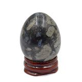 Natural Gemstone Egg Crystal Sphere Reiki Healing Massage Finger Exercise: Caffee Jasper, Llantite, Rhodonite, Blue Turquoise, & Mahogany Obsidian (2)