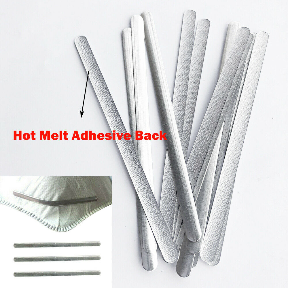 DWSFADA Flat Mask Aluminum Wire,100Pcs 3mm Nose Wire for Mask