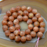 "Natural SunStone Gemstone Round Loose Beads 15.5"" 4mm 6mm 8mm 10mm 12mm"