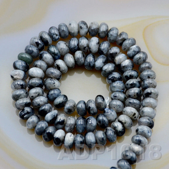 Natural Larvikite Labradorite Gemstone Smooth/Matte/Faceted Rondelle Loose Beads on a 15.5