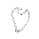 AD Beads 925 Sterling Silver Wave Ring Size #6, #7, #8, #9 for Women, Men, Adults, and Teens