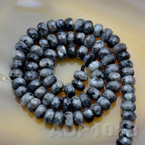 "Natural Larvikite Labradorite Gemstone Smooth/Matte/Faceted Rondelle Loose Beads on a 15.5"" Strand"