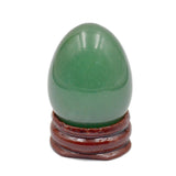 Natural Gemstone Egg Crystal Sphere Reiki Healing Massage Finger Exercise: Light Blue Quartz, Yellow Aventurine, Green Aventurine, Labradorite, & Red Zebra (5)