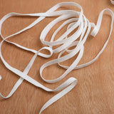 "3mm 1/8"" width Bright White Flat Elastic Band Trim Spandex for clothing or DIY face masks 10 yards to 500 yards"