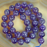 "Natural Amethyst Gemstone Round Loose Beads on a 15.5"" Strand"