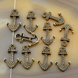 Anchor Solid Metal Finding Connector Spacer Charm Beads 10 Pcs