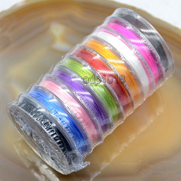 10 Rolls Elastic Stretchy Crystal Cord Beading Thread Stringing Material