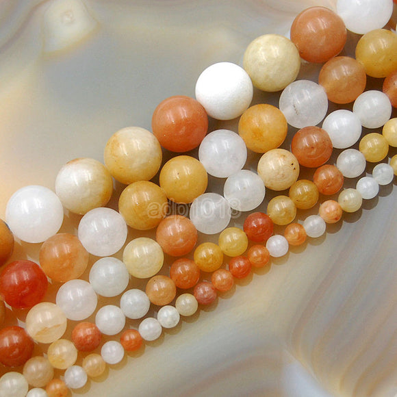 Natural Colorful Aventurine Round Loose Beads on a 15.5
