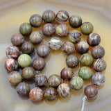 "Natural Colorful Opal Gemstone Round Loose Beads on a 15.5"" Strand"