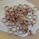 Single Loop & Double Loop Plated Over Copper Jump Rings Connectors Metal Finding For Jewelry Making