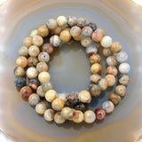 Natural Crazy Lace Agate Gemstone Beads Stretch Bracelet Healing Reiki