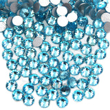 Top Quality Aquamarine 04 Glass Crystal Rhinestone Flatbacks Non Hotfix Nail Art