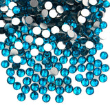 Top Quality Blue Zircon 07 Glass Crystal Rhinestone Flatbacks Non Hotfix Nail Art