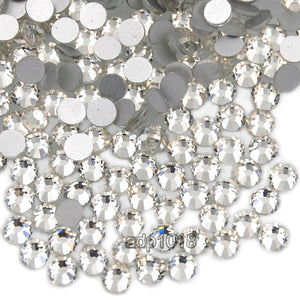 Top Quality Crystal Clear 01 Glass Crystal Rhinestone Flatbacks Non Hotfix Nail Art