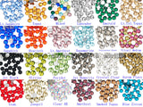 Top Quality Mixed Color 34 Glass Crystal Rhinestone Flatbacks Non Hotfix Nail Art