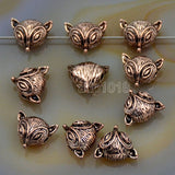 Fox Solid Metal Finding Connector Spacer Charm Beads 10 Pcs