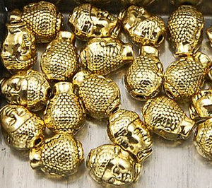 Buddha Head Solid Metal Finding Connector Spacer Charm Beads 20 Pcs