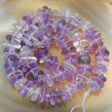 "Natural Gemstone Nugget Freeform 4x8-10x13mm Spacer Loose Beads on a 15.5"" Strand"