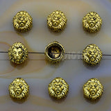 Lion Solid Metal Finding Connector Spacer Charm Beads 10 Pcs