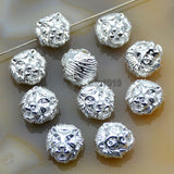 Animal Head Lion Solid Metal Finding Connector Spacer Charm Beads 10 Pcs